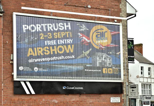 Air Waves (Portrush) poster, Belfast (August 2017)