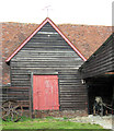 SP9315 : Side Entrance to the Great Barn at Pitstone Green Museum by Chris Reynolds