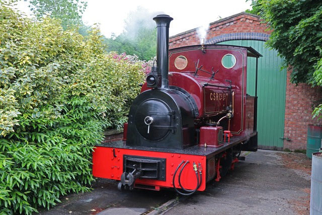 Statfold Barn Railway - simmering on shed