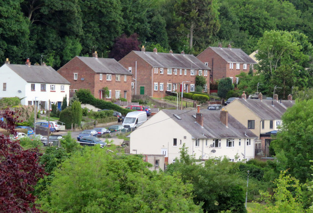 Houses on Bird Hill Road from Hill Rise