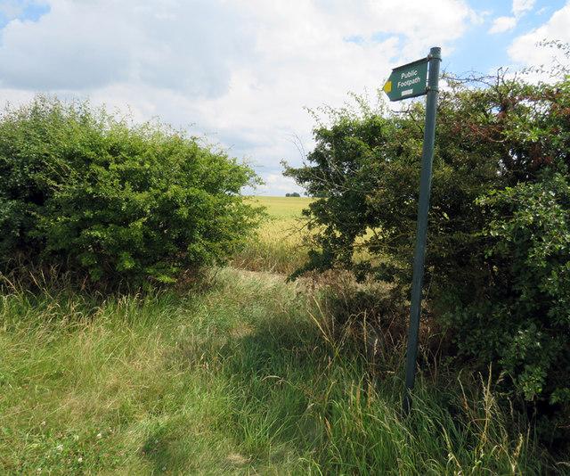 Footpath towards Burton Lazars