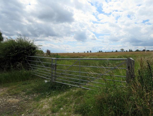 Field entrance on south side of Melton Road