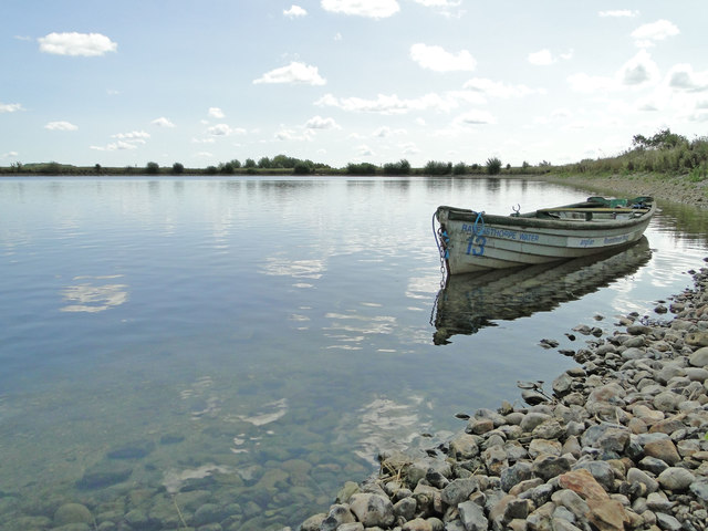 Rowing boat on the reservoir at Thorpe Morieux