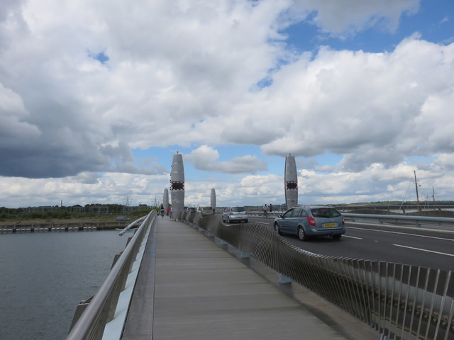 Approach to Twin Sails Bridge, Poole