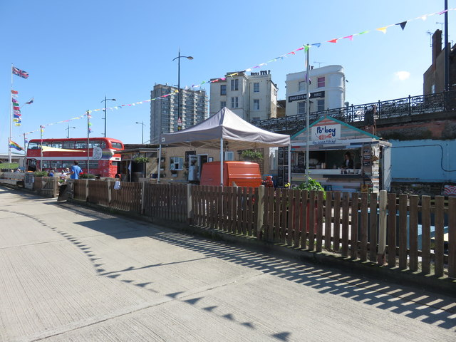 Cafes on the Royal Crescent Promenade, Margate