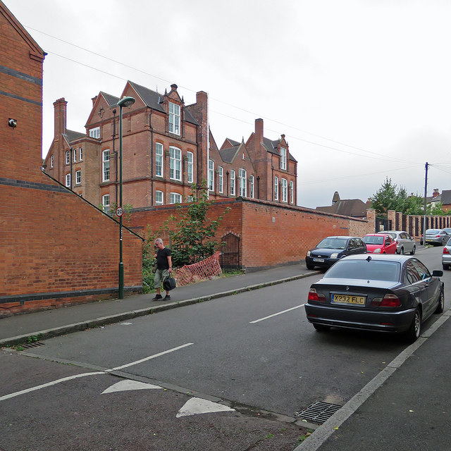 Sturton Street and the rear of Forest Fields Primary School
