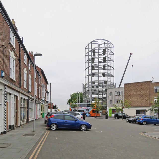 Steelwork at the top of Ilkeston Road