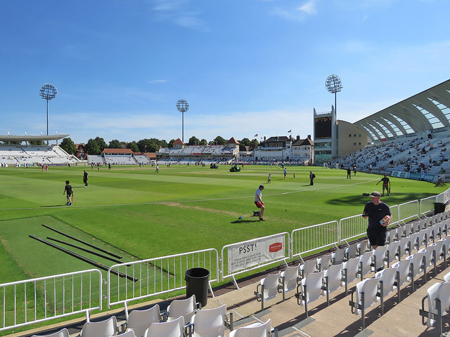 Trent Bridge: the lunch interval on August Bank Holiday Monday