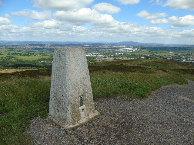 Trig point on Darwen Hill