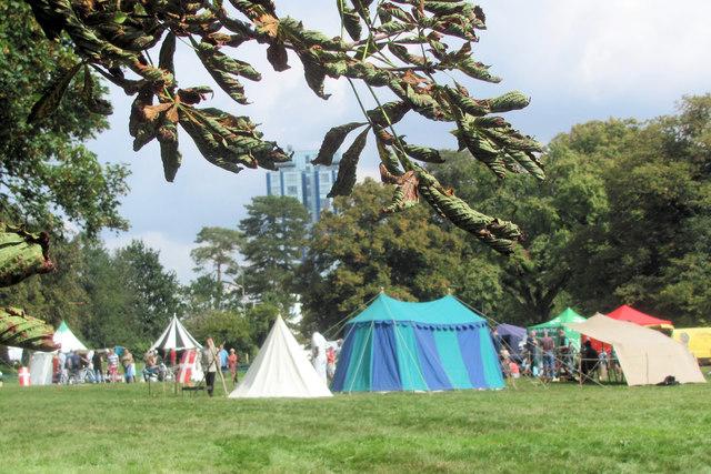 """Medieval Encampment"" on Blackbirds Common, Boxmoor"