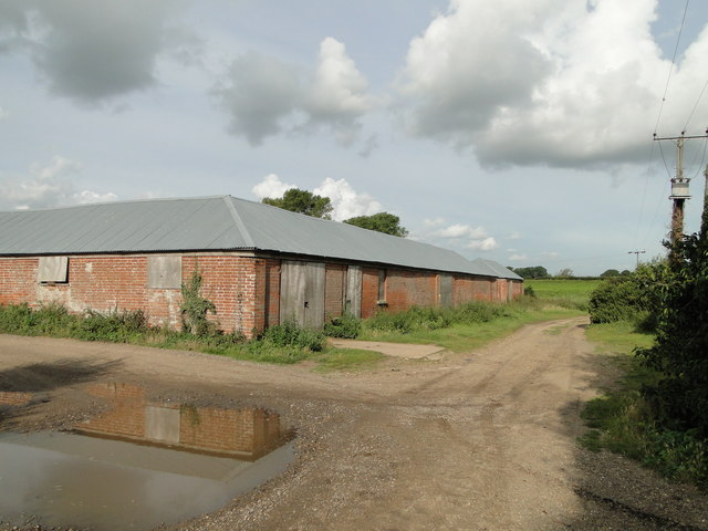 Farm buildings near Morston Hall