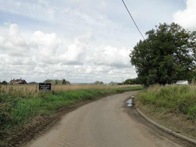Trackway to Alston Hall