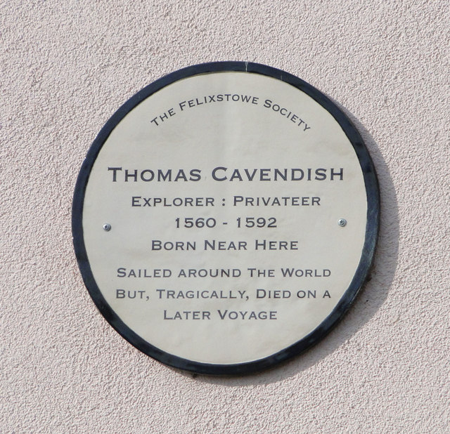 Memorial Plaque to Thomas Cavendish, 1560 - 1592
