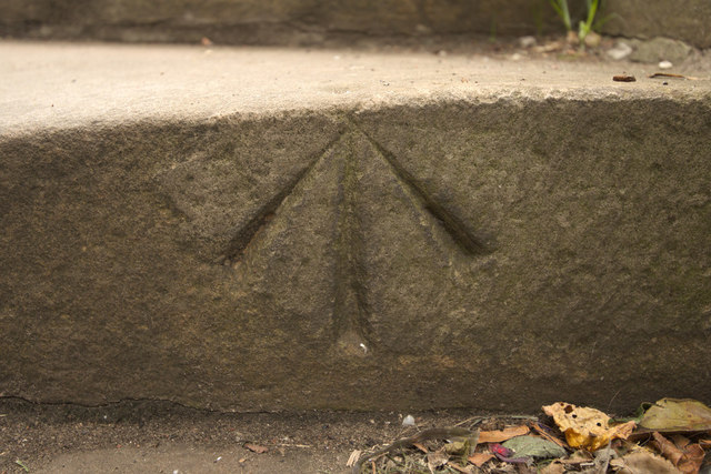 Pivot Bench Mark, Princes Street Gardens Steps