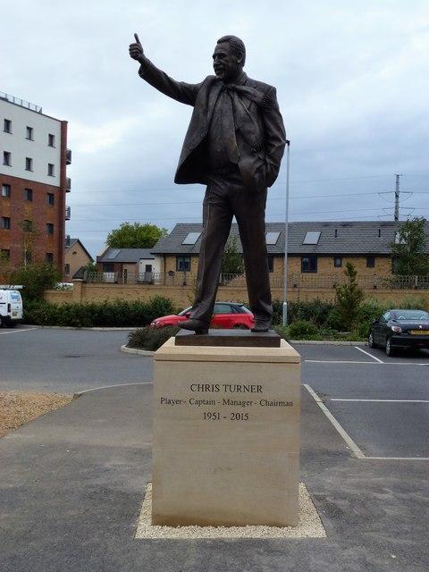 Chris Turner statue, London Road, Peterborough