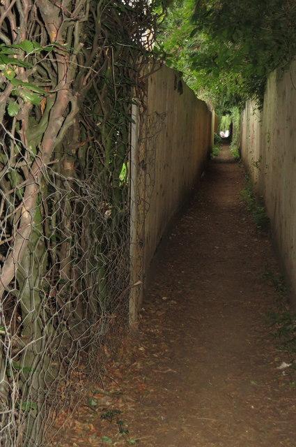 Footpath into Oakley