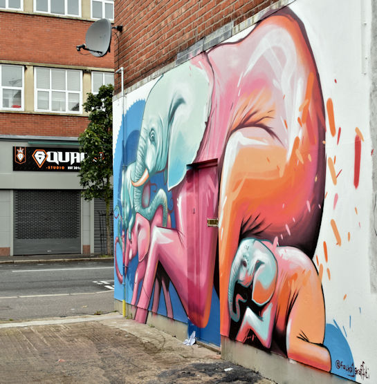 Street art, Laburnum Lane, Belfast - September 2017(1)