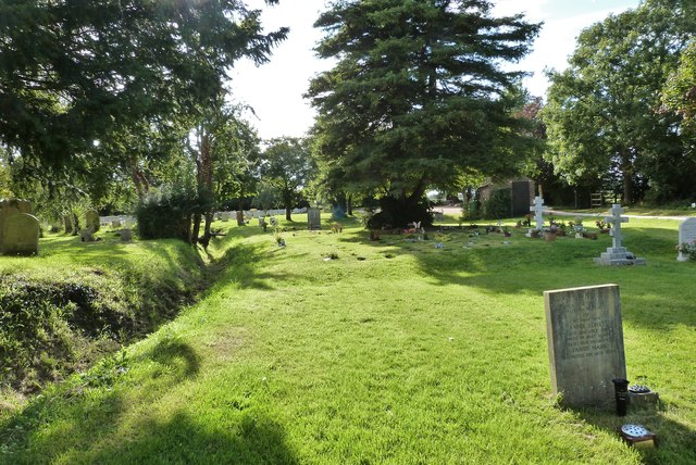 The churchyard of St. Peter's church, North Hayling
