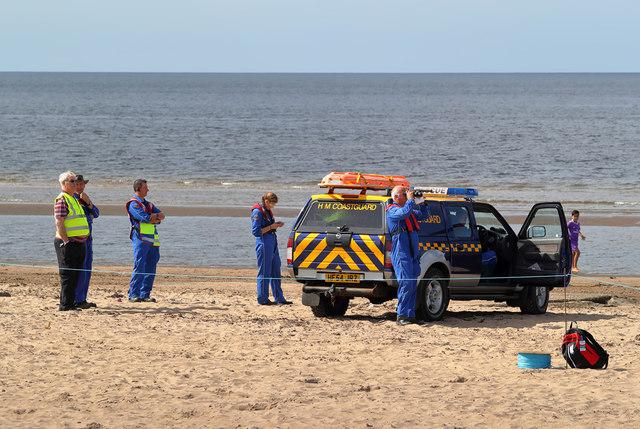 HM Coastguard at Ayr Beach