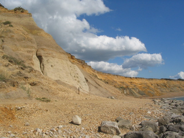 Eroding cliffs at Barton on Sea