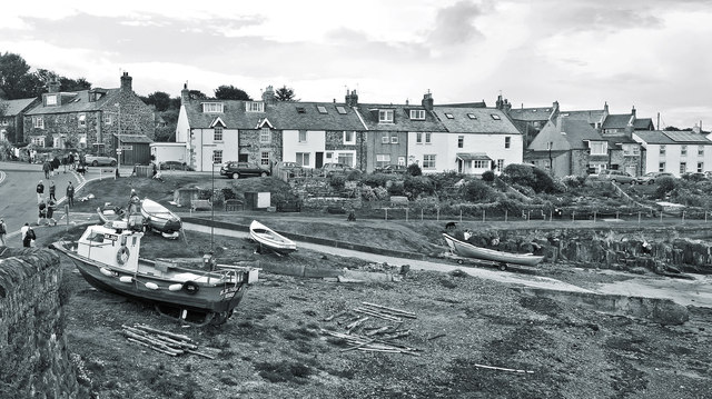 Houses by the Harbour at Craster