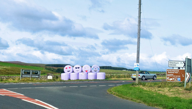 Smiley Bales at the Junction