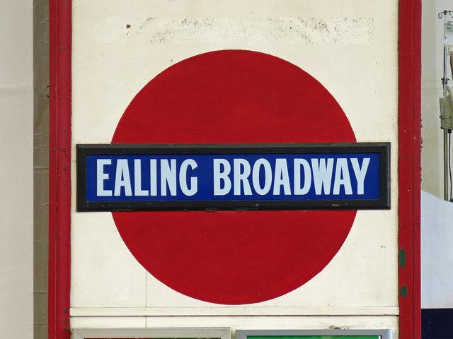 Ealing Broadway tube station - roundel
