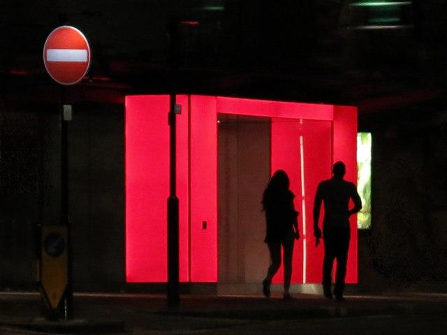 Sadler's Wells Theatre, Rosebery Avenue, EC1 - iconic entrance (at night) (5)