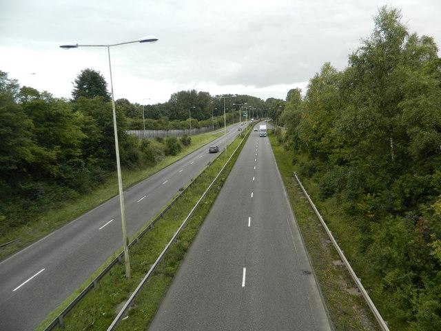 The A50 near Blythe Bridge
