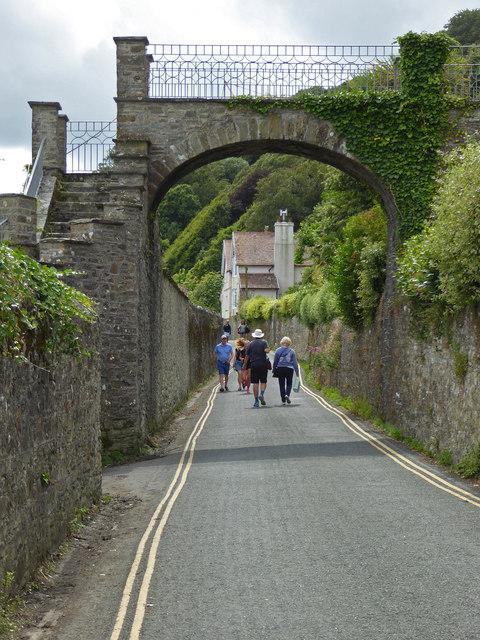 Private bridge over Cliff Road, Salcombe