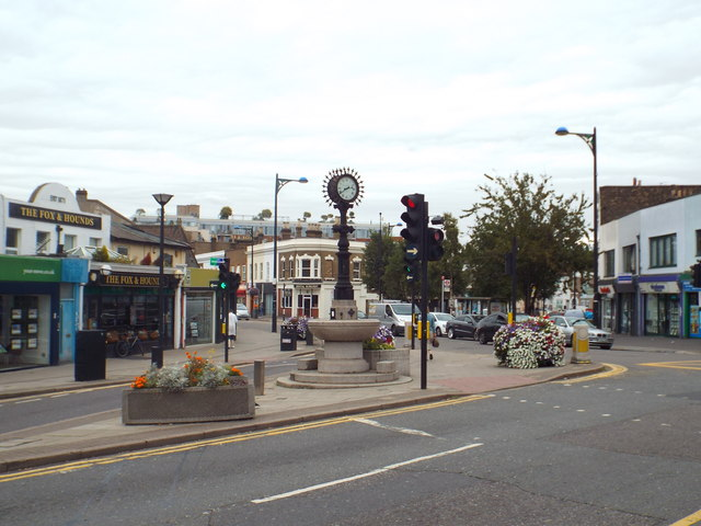 Forest Gate clock tower and drinking fountain