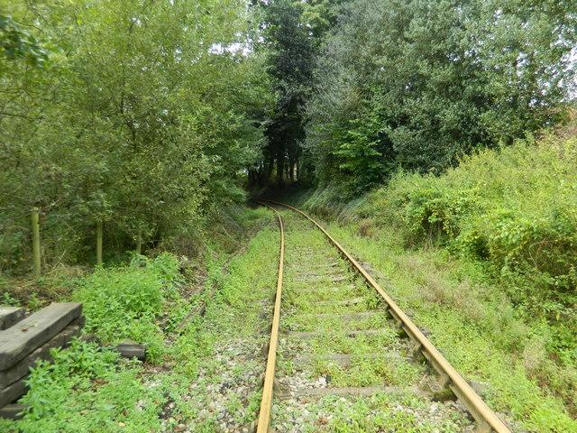 Foxfield Steam Railway line