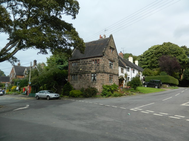 Junction of The Square and The Hollow, Caverswall