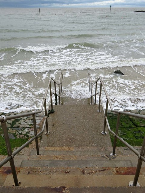 Steps to the sea in Clacton
