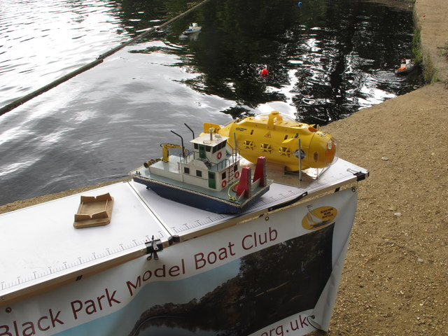 Black Park Model Boat regatta - display includes submarine