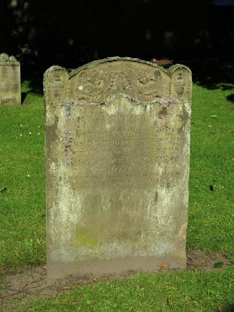 Early 19th C gravestone in the graveyard of the Church of St. Mary, Town End