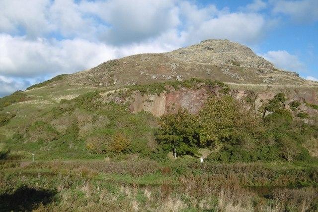 Quarry, North Berwick Law
