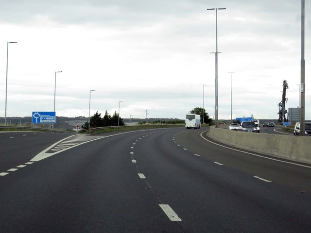 The M275 heading out of Portsmouth