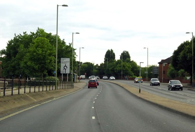 The A32 in Fareham
