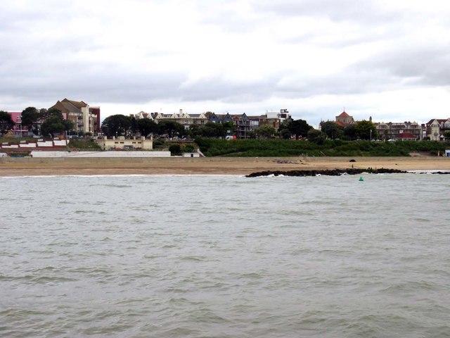 The beach at Clacton
