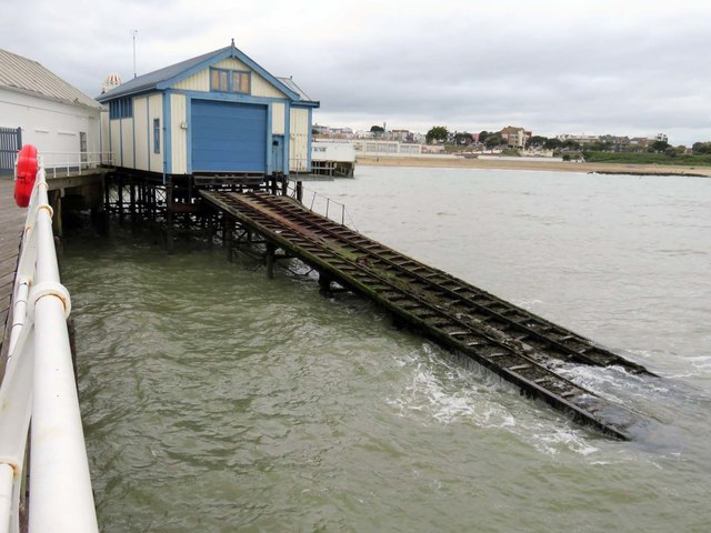 The former lifeboat station on Clacton Pier
