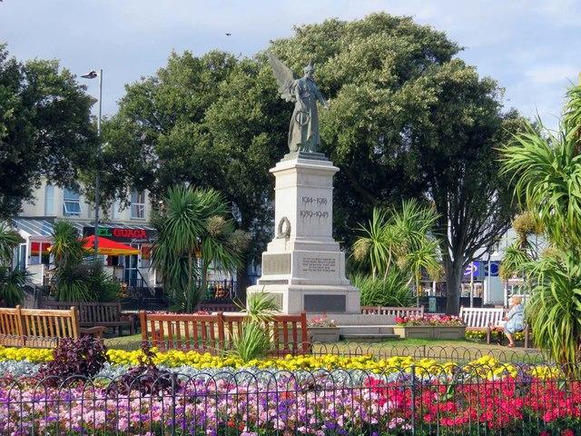 The war memorial in Clacton