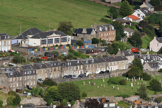 Halliburton Place and Glendinning Terrace, Galashiels from Meigle Hill