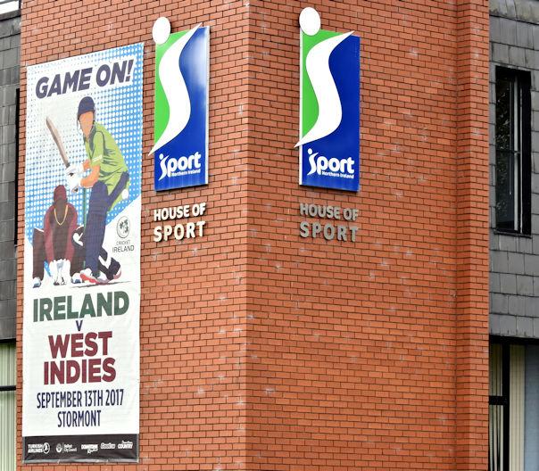 West Indies cricket poster, Belfast (September 2017)