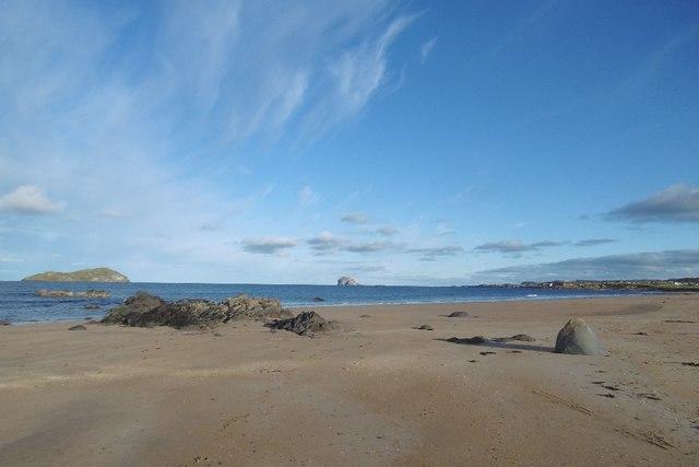 Beach, west of North Berwick