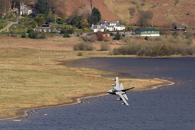 A low flying Tornado over St Mary's Loch