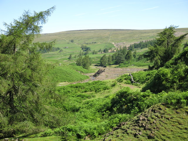 The valley of Hudeshope Beck