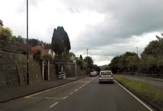Bus stop on Wells Way