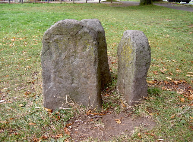 Old boundary stones on the Downs