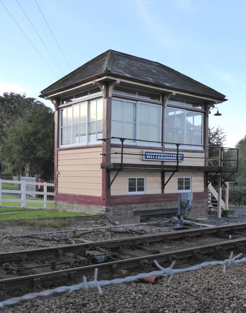 Signal-box at Wittersham Road station, Kent & East Sussex Railway
